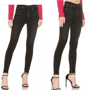 Rag & Bone Vintage Skinny Jeans Black Brook sz 26